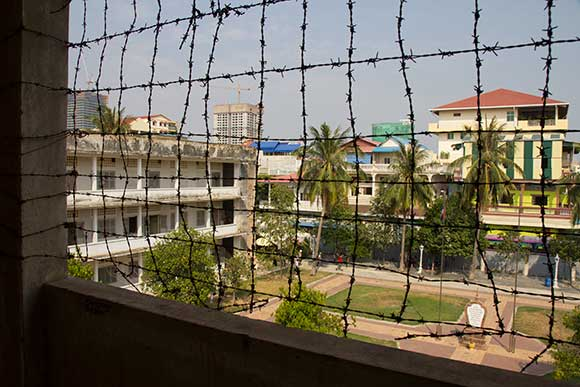 Tuol Sleng yard view