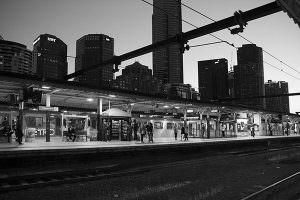 Train station in Melbourne