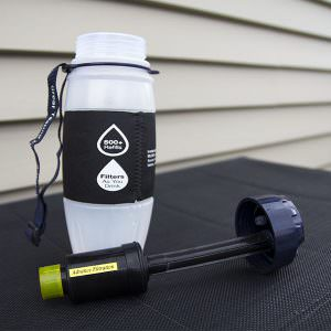 FIll 2 Pure Travel Safe Water Filter Bottle
