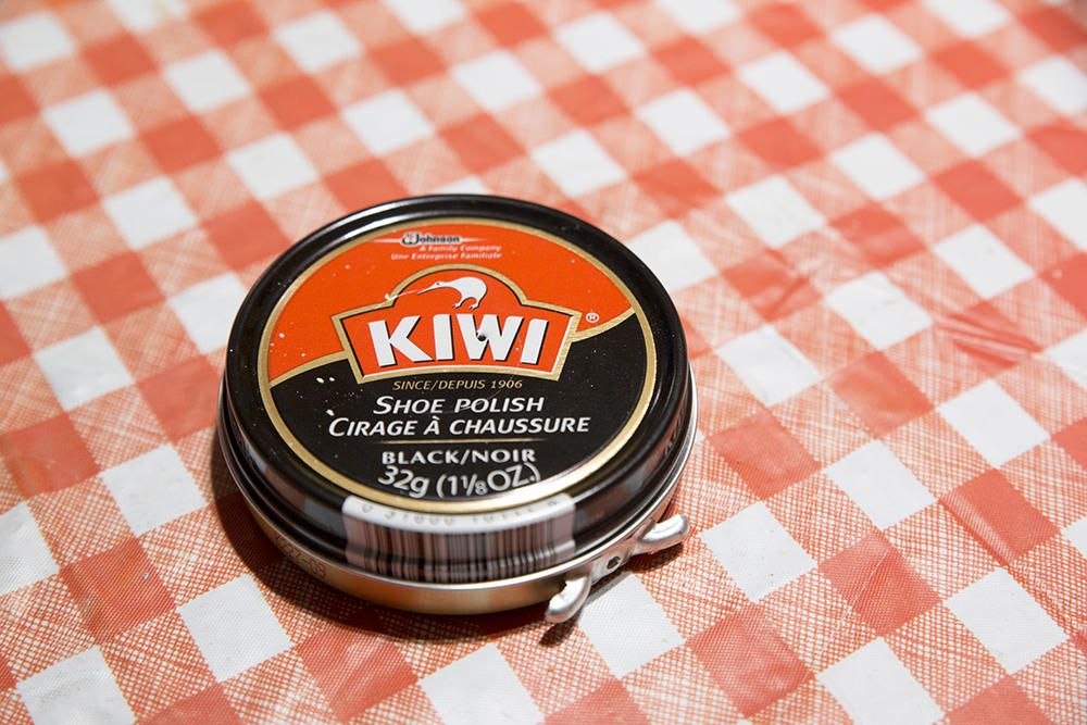 Kiwi boot polish to make it feel like home :)