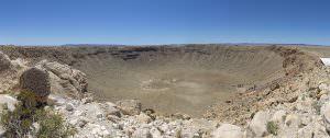 Meteor Crater, Arizona. It's a big crater.