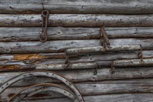 Log cabin in Hope Museum