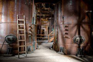 Inside Kennecott Leaching Plant Building, Alaska