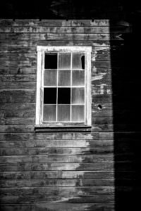 Empty window, Kennecott Copper Corporation Mill Town, Alaska