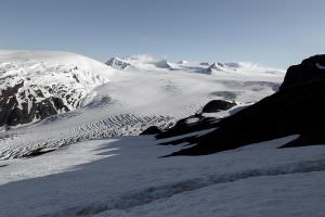 Top of the Exit Glacier at the Harding Icefield