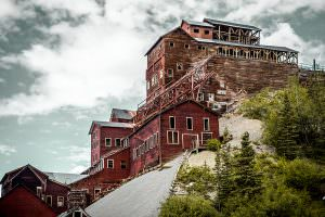 The old Kennecott mining town mill building