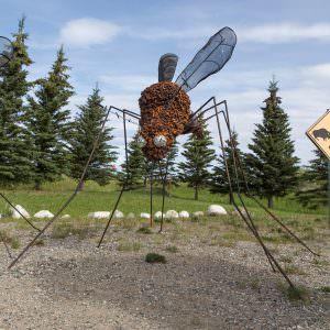 Delta Junction mosquito statue