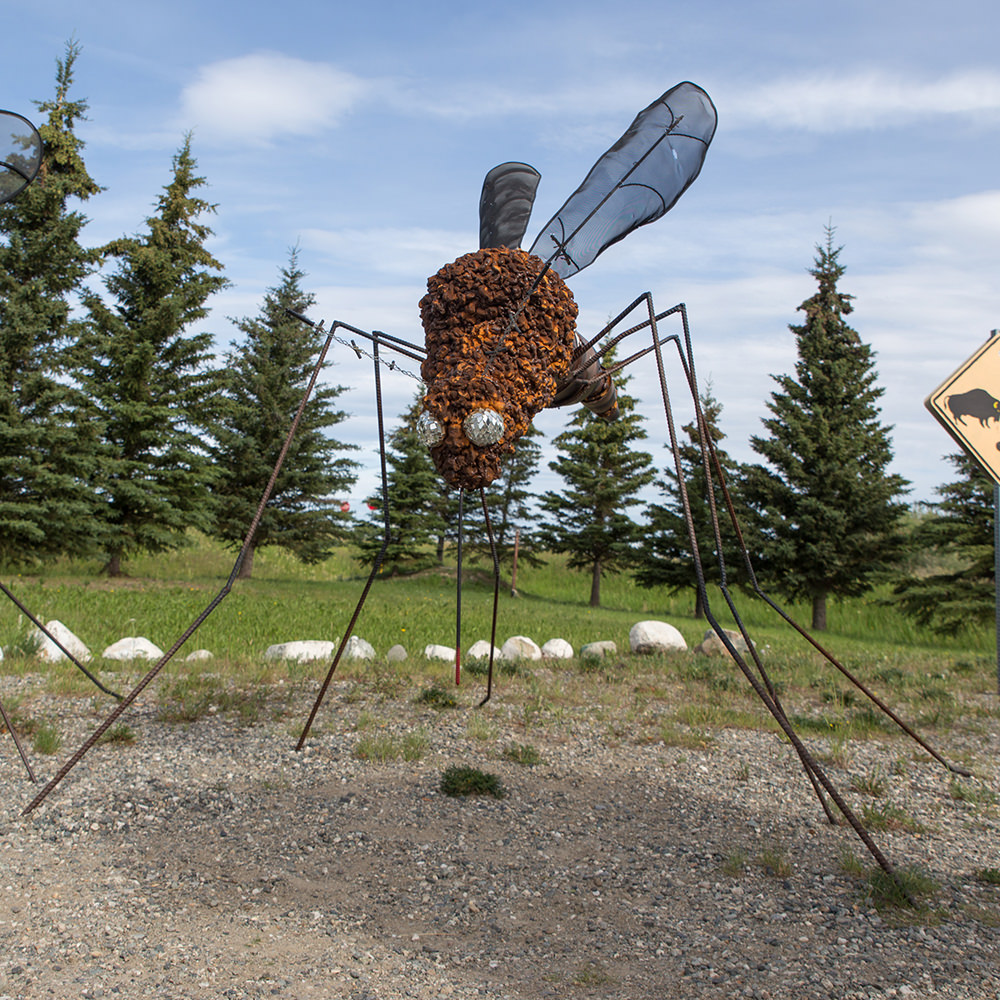 Delta Junction mosquito statue