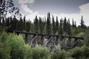 The old Kennecott railway bridge