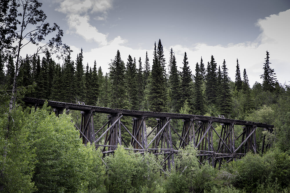 The old Kennecott railway bridge