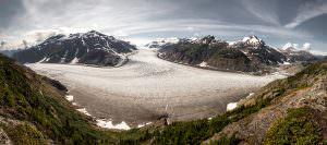 Salmon Glacier aerial view
