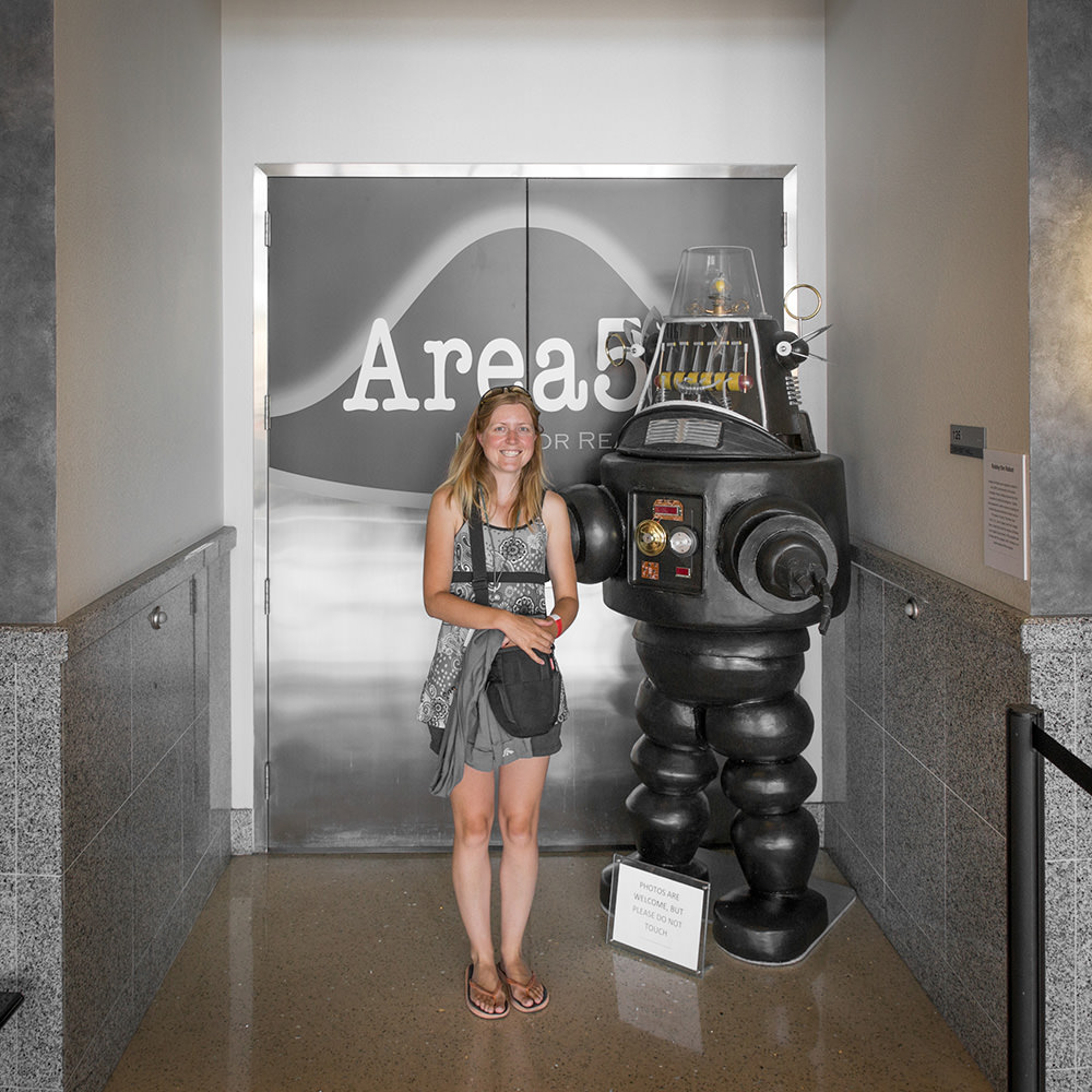 Area 51 Exhibit at the National Atomic Testing Museum