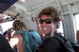 Flying above Black Rock City, Burning Man 2014