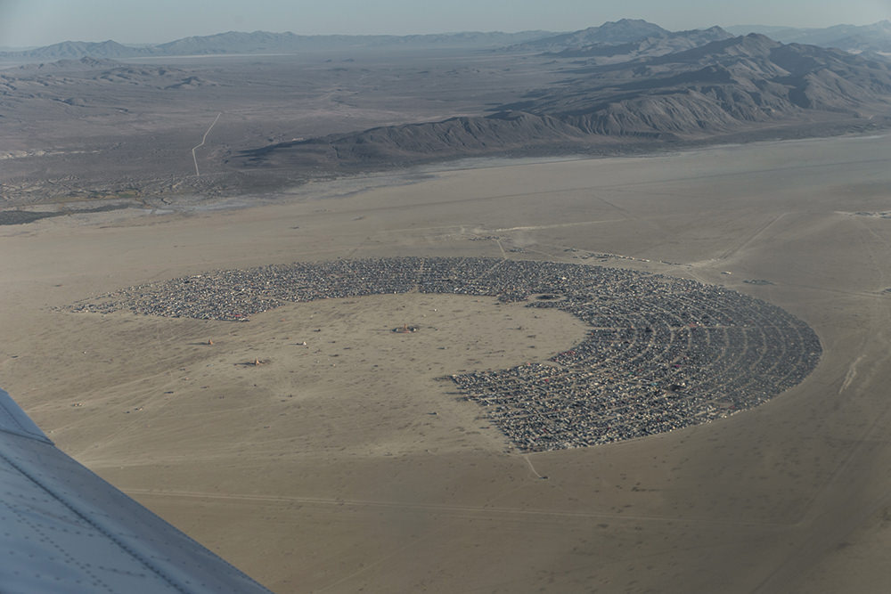 Black Rock City from above