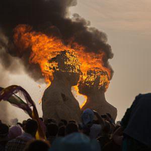 Burning Man 2014—The Embrace burn