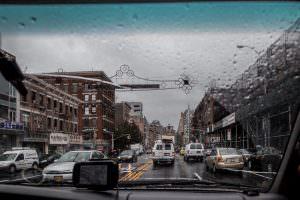 Driving through Manhattan