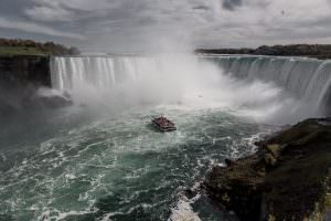 Niagara Falls boat tour on the Canadian 'Hornblower'.