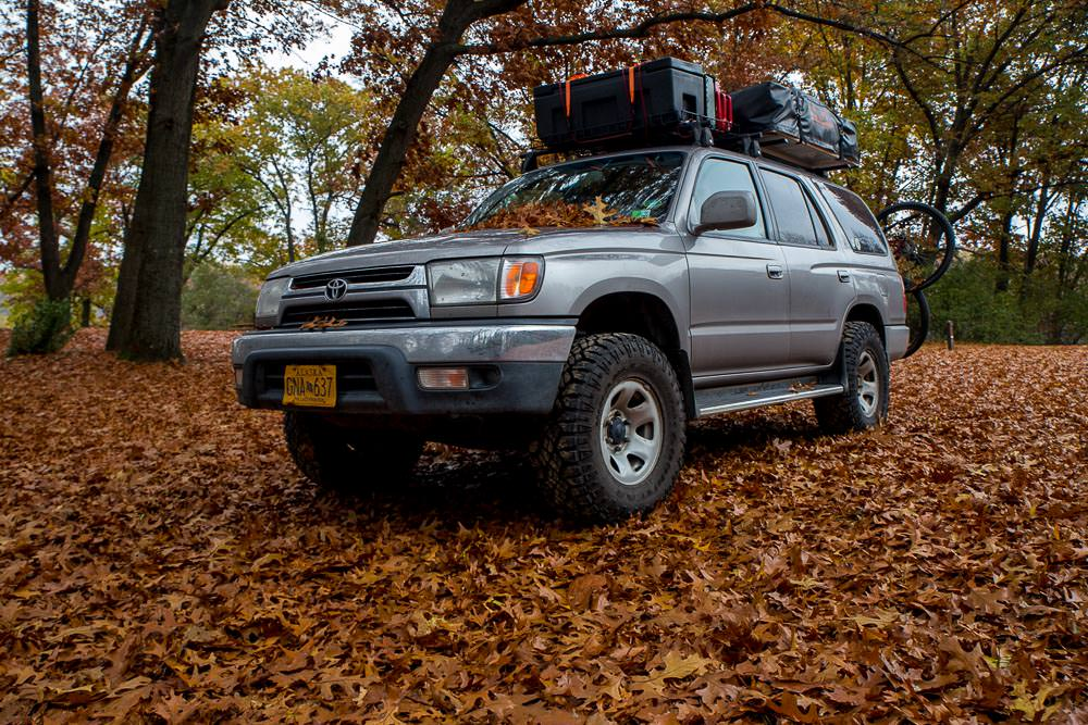 Autumn leaves and the 4Runner