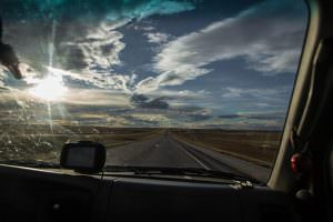 Long, straight road