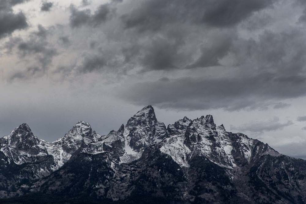 The rugged Grand Tetons south of Yellowstone.