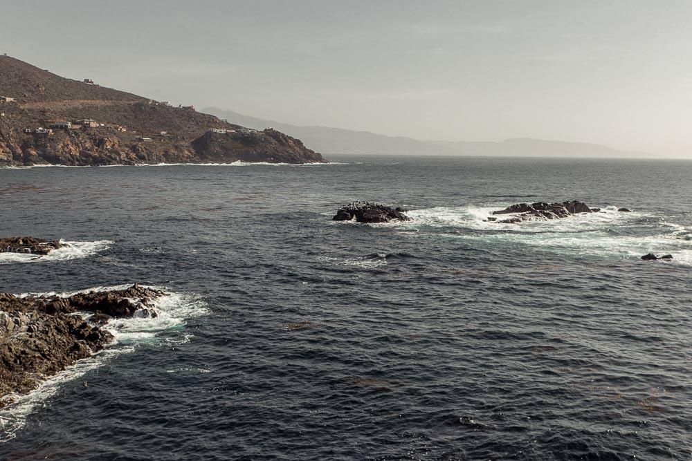 View down the coast from La Bufadora