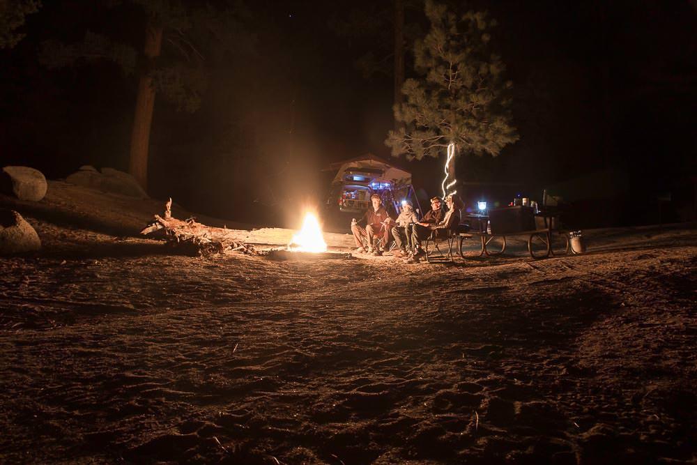 Campfire in Parque Nacional San Pedro Martir