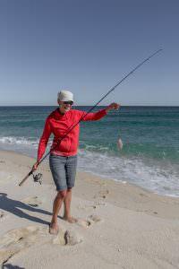 Dace catches a fish—success!