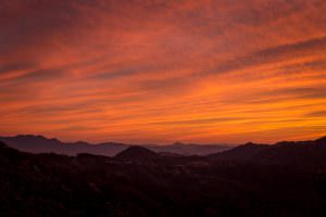 Sunset over the Sierra Madre in the Copper Canyon region