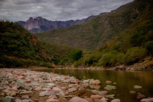 View from the bottom of Urique Canyon.