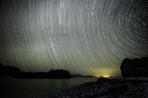 starry skies over the beach, Baja California Sur