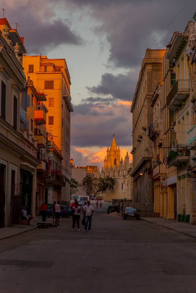 We knew we would miss the golden glow of sunset on the streets of Havana.