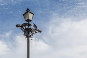 These seem to be the standard street lights in Mexican colonial towns.