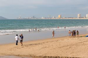 They are nice golden sandy beaches. Just not quite as peaceful or natural as we were used to in Baja.