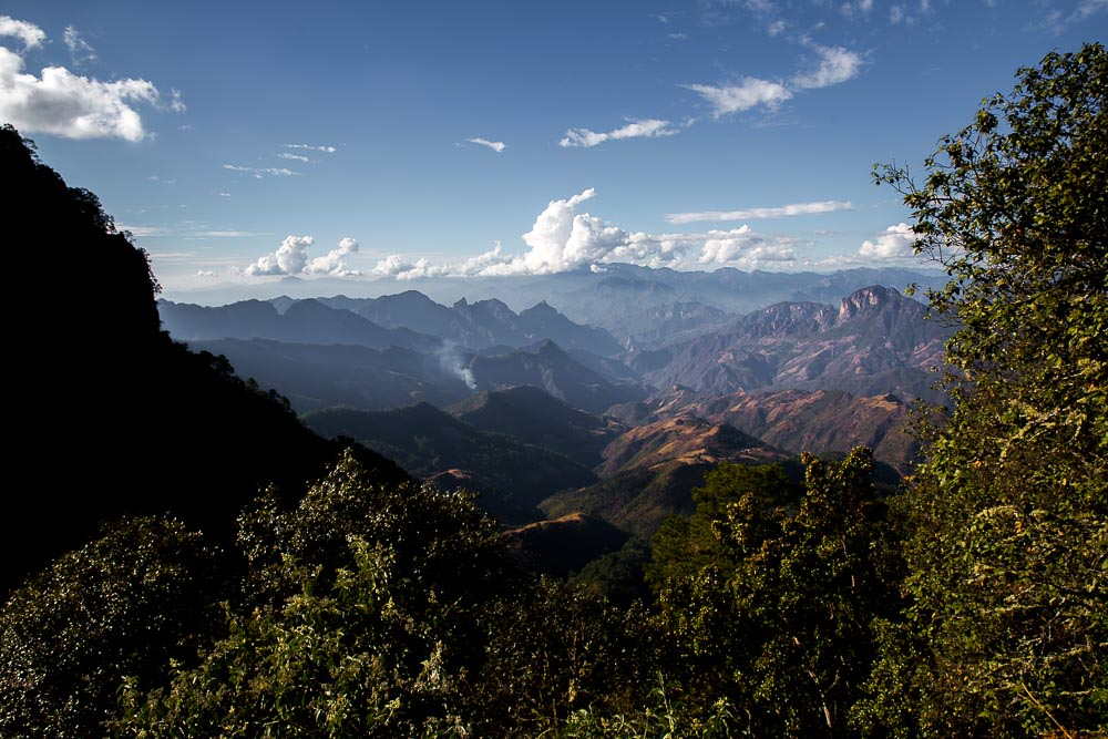 These views remind us of the Copper Canyon.