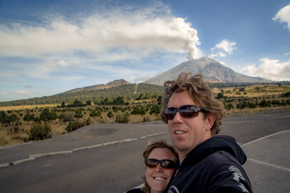 Probably should have lined that up to have the steam coming right out of Ben's head, oh well, next erupting volcano, we'll do that.