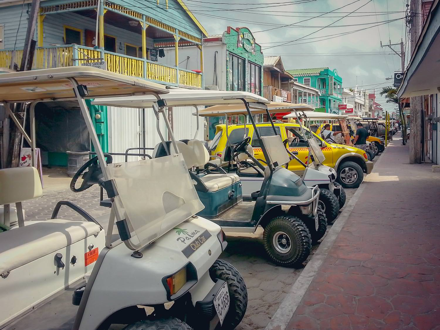 Watching confused octogenarians parking golf carts can be a fun afternoon activity in San Pedro.