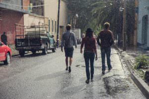 Heading in to town one rainy afternoon with our friends from Bee Individual.