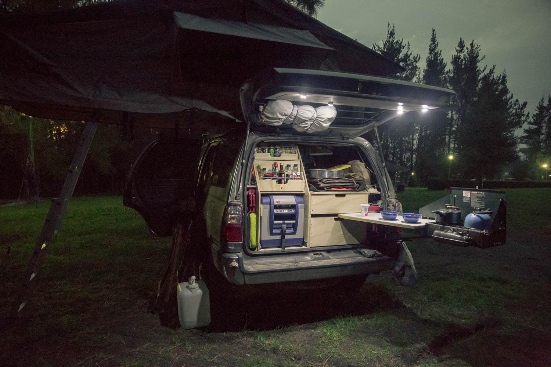 4Runner set up for camping
