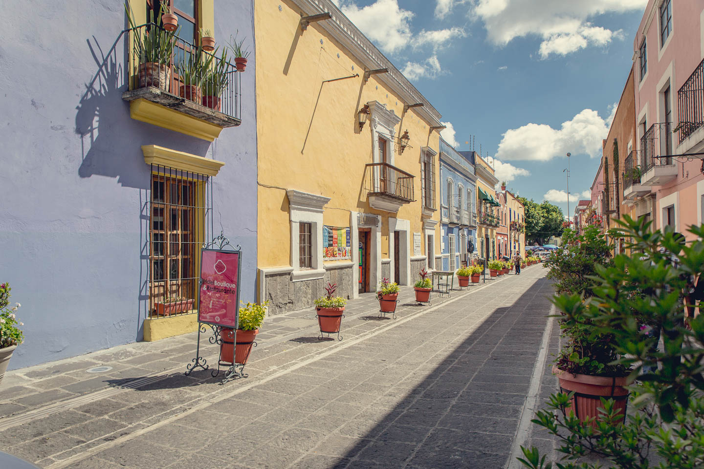Our one photo of the streets of Puebla.