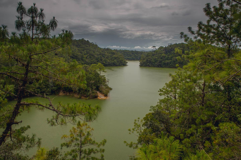 The weather was a bit bleak when we first arrived at Lagunas de Montebello