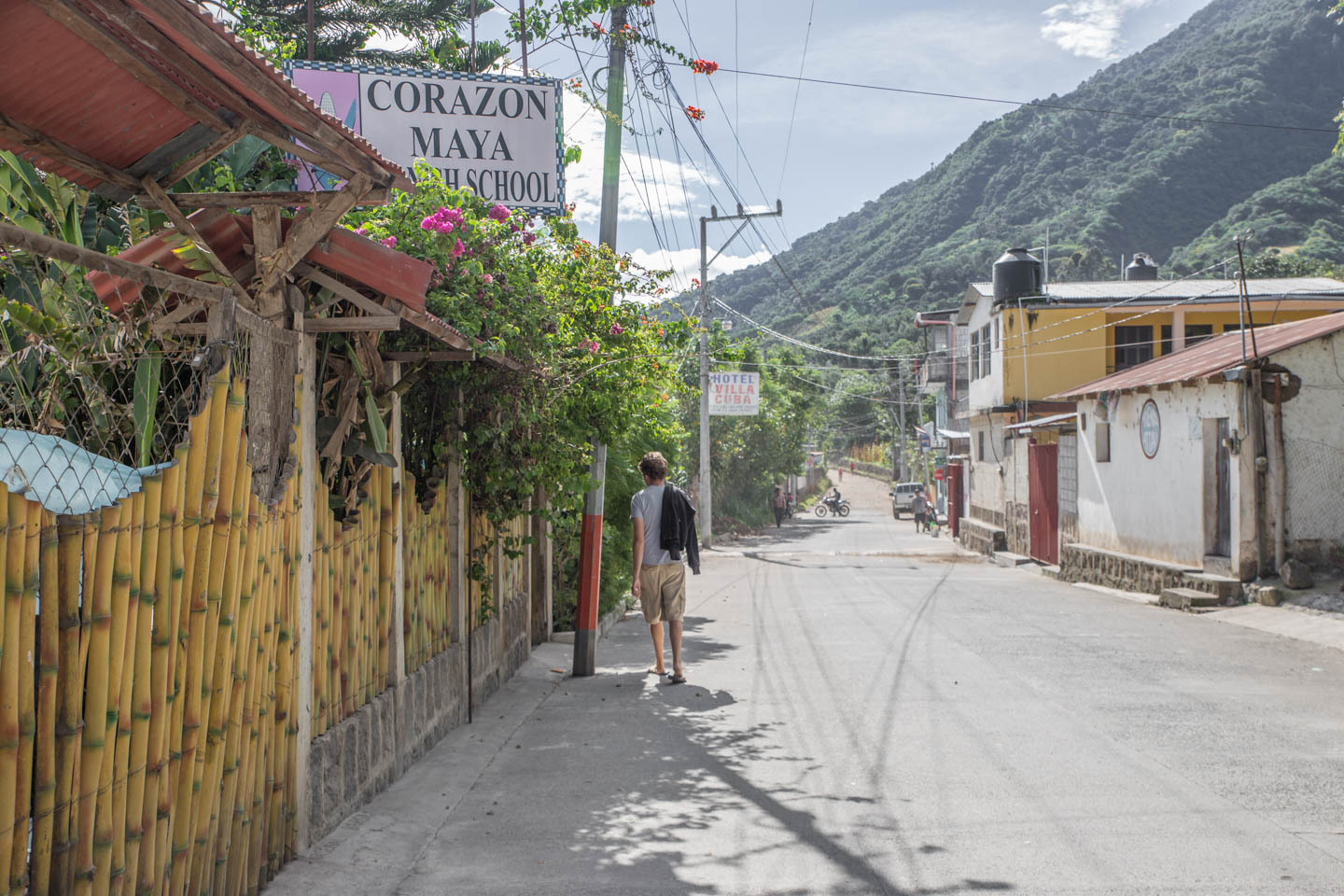 Our Spanish school located on the outskirts of town at the base of the imposing Volcán San Pedro.